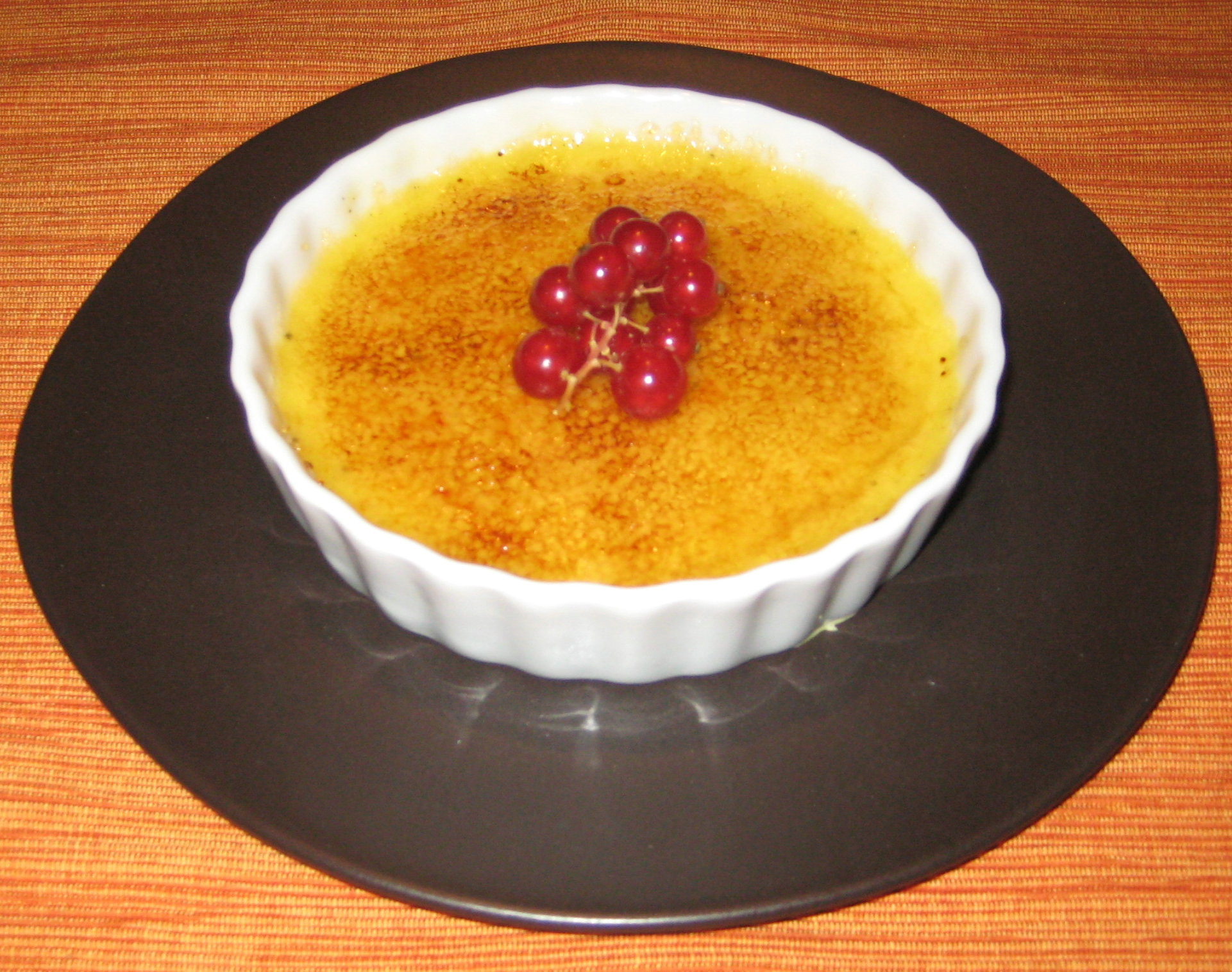 Grand Marnier creme brulee